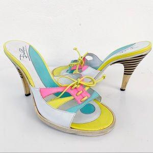 Emilio Pucci Neon Bright Sandal Heels